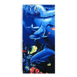Ręcznik plażowy 70x145 cm - Pływające Delfinki RPL-32
