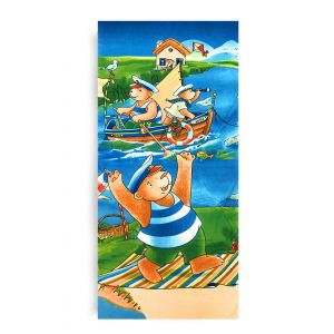 Ręcznik plażowy 70x145 cm - Misie Marynarze RPL-43