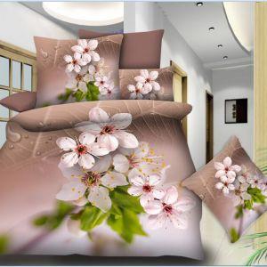 Pościel 3D - Kwiat Jabłoni   - 160x200 cm - 3 cz - 77-08