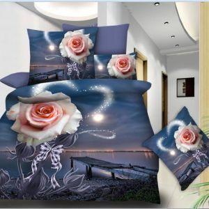 Pościel 3D -  Róża Nocą  - 160x200 cm - 3 cz - 77-12