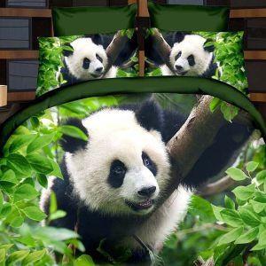 Pościel 3D - Panda na Drzewie - 220x200 cm - 4 cz - 2003-02