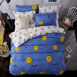 Pościel dwustronna - Uśmiech Emojii - 160x200 cm - 3cz - 817-05