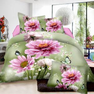 Pościel 3D - Piękne Kwiaty - 160x200 cm - 4 cz - 4204-08