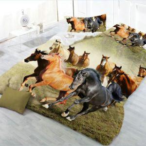 Pościel 3D - Konie w Galopie - 160x200 cm - 4 cz - 013-20