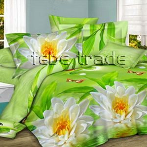 Pościel 3D -  Kwiat Lotosu - 220x200 cm - 4 cz -1703-04