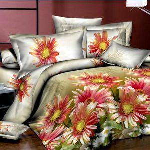 Pościel 3D - Kolorowe Kwiaty - 220x200 cm - 3 cz - 1713-05
