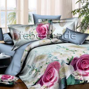 Pościel 3D - Pastelowe Róże - 220x200 cm - 3 cz - 1715-01