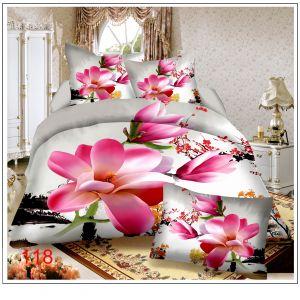Pościel 3D - Różowa Magnolia - 160x200 cm - 3 cz - 812-118