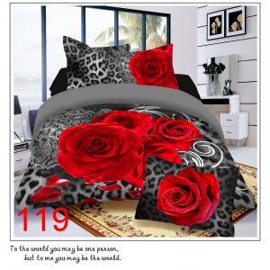 Pościel 3D - Czerwone Róże - 160x200 cm - 3 cz - 812-119