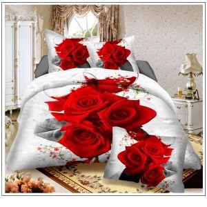 Pościel 3D -  Jaskrawe Róże - 160x200 cm - 4 cz - 812-120