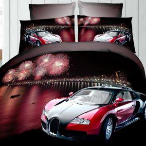 Pościel 3D -  Bugatti veyron - 220x200 cm - 3 cz - 236-04