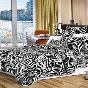 Pościel dwustronna - Wzór Zebra - 220x200 cm - 3cz - 2703-06