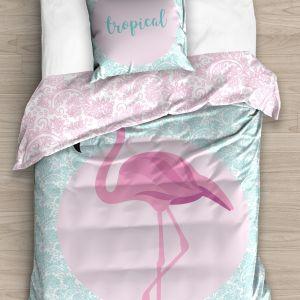 Pościel 3D - Różowy Flamingo - 140x200 cm - 2 cz - NL182001