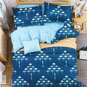 Pościel 3D - Niebieskie Parasole - 140x200 cm - 4 cz - MN5006