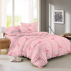 Pościel 3D - Różowe Flamingi - 160x200 cm - 4 cz - 4222-403