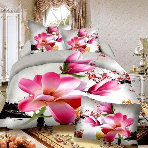 Pościel 3D -  Różowa Magnolia - 160x200 cm - 4 cz - 812-118