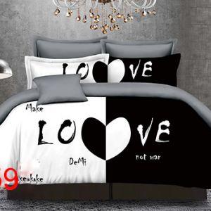 Pościel 3D - Modne Love - 160x200 cm - 4 cz - 4219-359