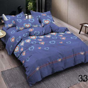 Pościel 3D - Niebieskie Serca - 160x200 cm - 4 cz - 4219-332