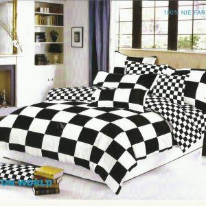 Pościel dwustronna - Kwadraty Czarno-Białe - 160x200 cm - 4cz - 315-02