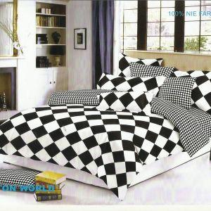 Pościel dwustronna - Czarno-Białe Romby- 160x200 cm - 4cz - 315-10