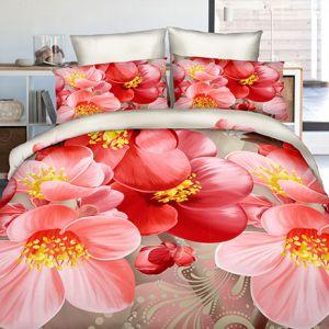 Pościel 3D - Jaskrawe Kwiaty - 160x200 cm - 4 cz - 4211-93