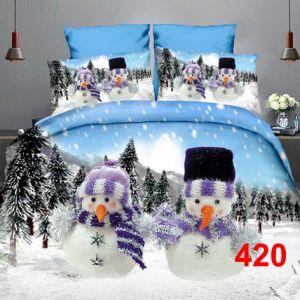 Pościel 3D - Zimowe Bałwanki - 160x200 cm - 3 cz - 4223-420