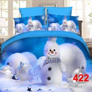 Pościel 3D - Zimowy Bałwan- 160x200 cm - 3 cz - 4223-422