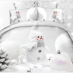 Pościel 3D - Zimowy Bałwanek - 140x200 cm - 3 cz - 248-03