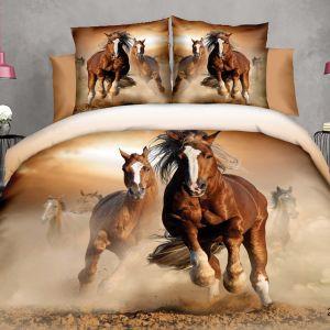 Pościel 3D - Pędzące Konie - 160x200 cm - 4 cz - 4211-325