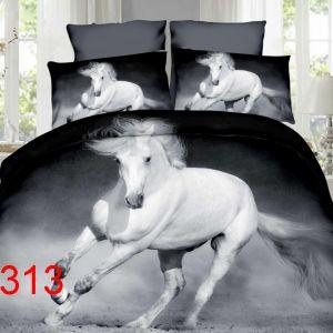 Pościel 3D - Biały Koń - 160x200 cm - 4 cz - 4211-313