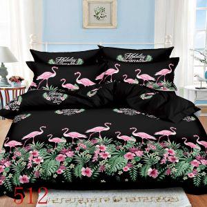 Pościel 3D - Eleganckie  Flamingi - 220x200 cm - 3 cz - 4229-512