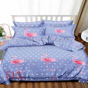 Pościel 3D - Niebiańskie Flamingi - 220x200 cm - 3 cz - 4229-513