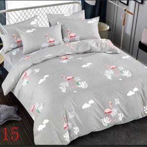 Pościel 3D - Szare Flamingi - 220x200 cm - 3 cz - 4229-515
