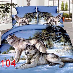 Pościel 3D - Zimowe Wilki - 160x200 cm - 4 cz - 4211-104