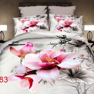 Pościel 3D - Kwitnące Magnolie - 160x200 cm - 4 cz - 4211-83