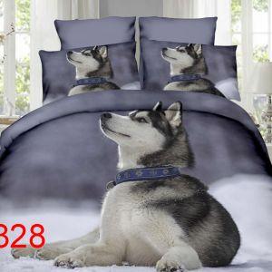 Pościel 3D - Piękny Husky - 160x200 cm - 4 cz - 4219-328