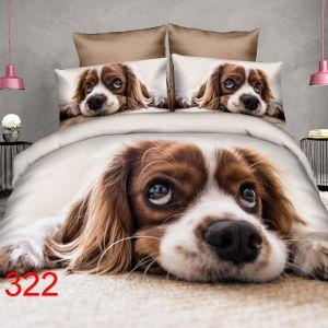 Pościel 3D - Leżący Piesek - 160x200 cm - 4 cz - 4211-322