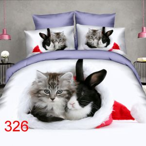 Pościel 3D - Świąteczne Zwierzaki - 160x200 cm - 4 cz - 4211-326