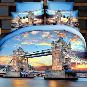 Pościel 3D - Brytyjski Most  - 220x200 cm - 4 cz - 716-05