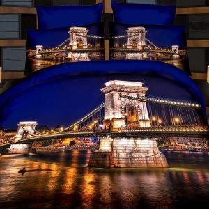 Pościel 3D - Most Nocą  - 220x200 cm - 4 cz - 716-10
