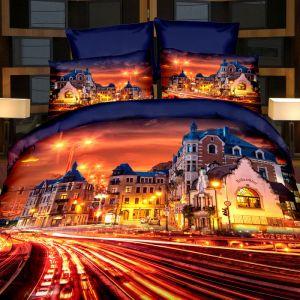 Pościel 3D - Stare Miasto - 220x200 cm - 3 cz - 165-10