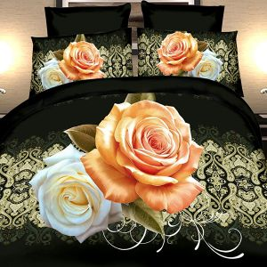 Narzuta 3D - Klasyczne Róże - 220 x 200 cm - 3 cz - 2302-04