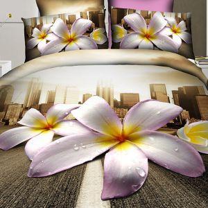 Narzuta 3D - Kwiaty Miasta - 220 x 200 cm - 3 cz - 2302-08