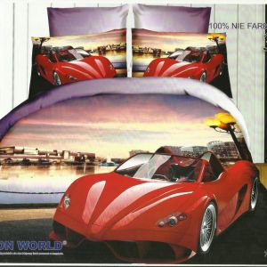 Pościel 3D - Czerwony SportCar - 220x200 cm - 3 cz - 159-03