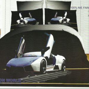 Pościel 3D - Sportowe Auto - 220x200 cm - 3 cz - 159-08