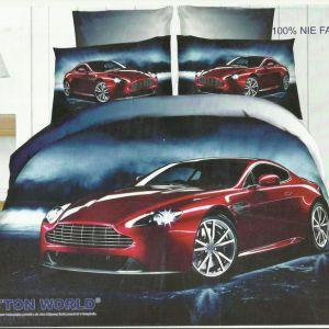 Pościel 3D - Auto we mgle- 220x200 cm - 3 cz - 159-10