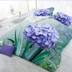 Pościel 3D -  Fioletowy Kwiat  - 160x200 cm - 3 cz - 27-02