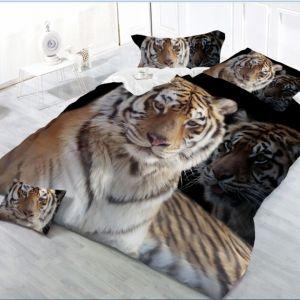Pościel 3D -  Poważny Tygrys  - 160x200 cm - 3 cz - 27-03