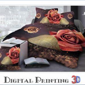 Pościel 3D -  Pomarańczowe Róże - 160x200 cm - 3 cz - 27-05