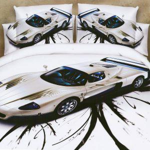 Pościel 3D - Samochód - 160x200 cm - 4 cz - MI6213
